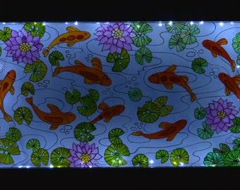 "Stained glass picture ""Aquarium"""