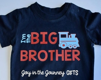 Big Brother Train t-shirt, Big brother shirt, Brother shirt, Train t-shirt, Train tee, boys shirt