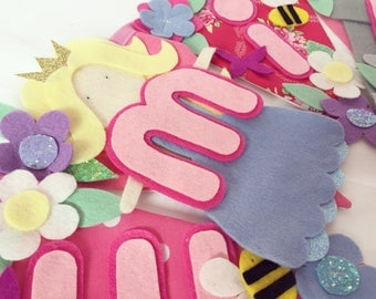Princess bunting banner decoration