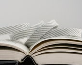 "1/2"" Double Fold Bias Tape: Dapper in Pavement, Grey Stripe"