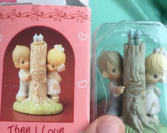 New precious moments thee i love enesco figurine miniature