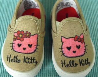 Hello Kitty Inspired Girls Toddler Shoes