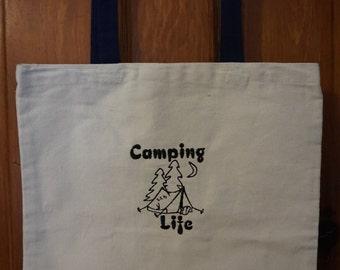 Camping Life-Tent-Tote Bag