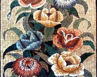 The Colorful Roses Arrangement Mosaic