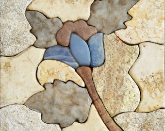 Blue Tulip Stone Mosaic