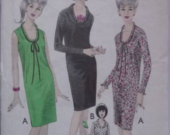 "Vintage Sewing Pattern. Style 1696. Dress pattern 1960s. Bust 38"". FF unused"
