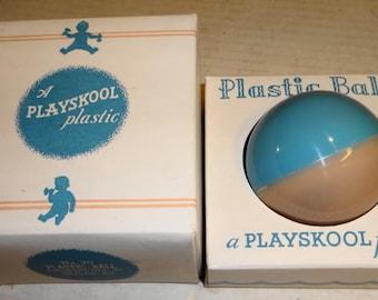 1950s Playskool Plastic Ball No. 70 Rattle Mint in mint Box.