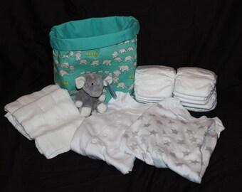 Nappy cake, unusal gift basket, neutral nappy cake, elephant nappy cake, baby nappy cake