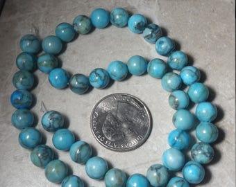 Blue jasper 8mm bead strand