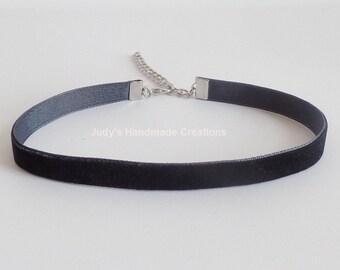 Black Choker Black Velvet Choker, Velvet Choker Necklace,  Black Velvet Choker Necklace, Velvet Black Choker, Popular Jewelry
