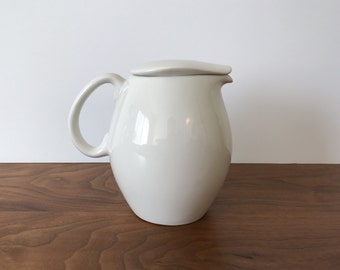 Iroquois Casual China Water Pitcher in Sugar White by Russel Wright