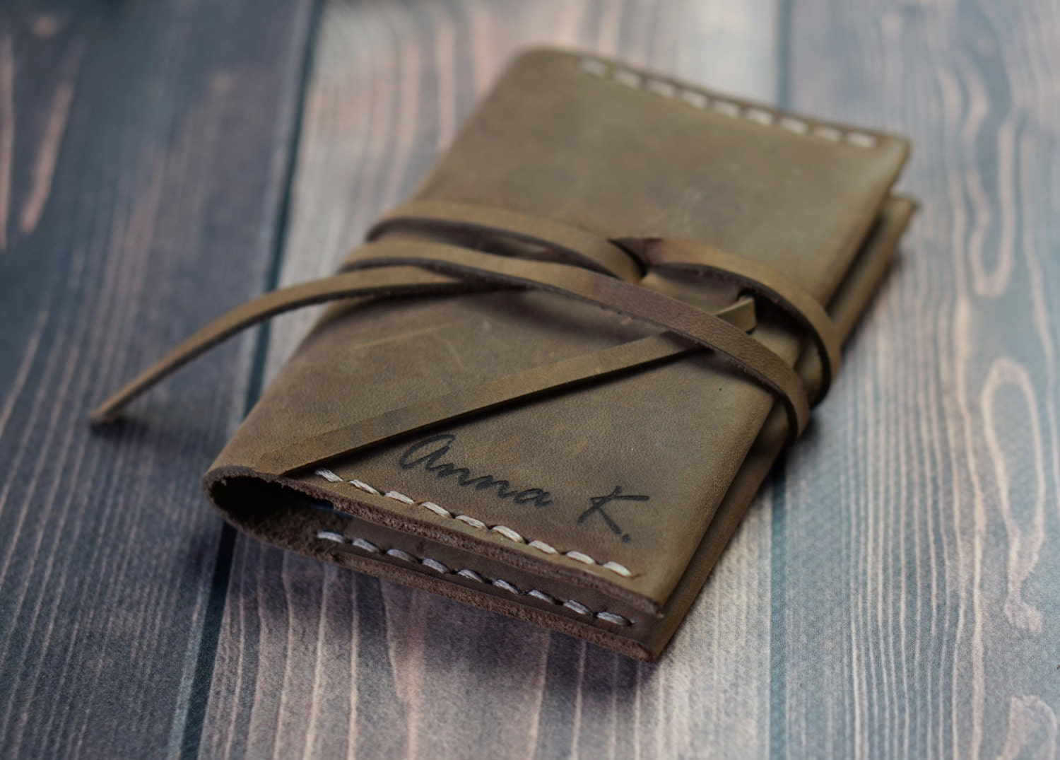 Personalised leather card holder, personalized leather credit card ...