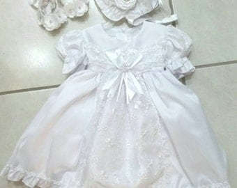Baptism dress, girl dress, white dress, beautiful robe dress girl white christening baptism girl of the flowers shantu feast ceremony