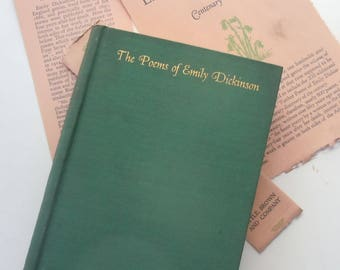 The Poems of Emily Dickenson / Vintage Book / Little Brown and Co Boston / 1930
