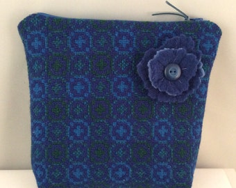 Welsh Tapestry tweed pouch