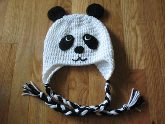 Crochet Pattern Panda Hat : Crochet Panda Bear Hat