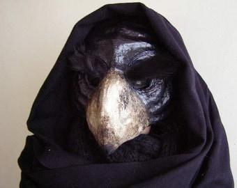 Masquerade mask Bird mask Angry bird mask Parrot mask Scary parrot mask Paper mache parrot mask Adult mask Carnival mask Face mask