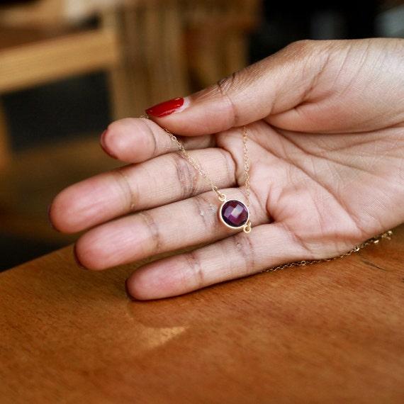 Amethyst, Amethyst Necklace, February Birthstone, February Birthstone Necklace, Birthstone Necklace, Birthstone Jewelry, Birthstone Charms