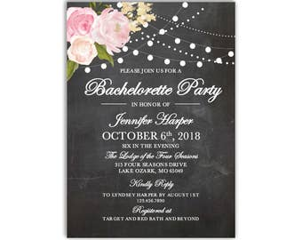 Bachelorette Party Invitation Template, DIY Bachelorette Invite, Cheap Invitation, Rustic Invitation, INSTANT DOWNLOAD Microsoft Word #CL104