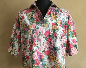 Vintage Floral Cotton Blouse - made in India