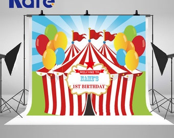 Carnival Circus Colorful Balloon Photography Backdrops Newborn Baby Birthday Party Photo Backgrounds for Children Studio Props