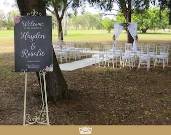 Wedding Chalkboard Welcome Sign // Printable Wedding Sign // Welcome To Our Wedding // Wedding Ceremony Sign // DIGITAL FILE