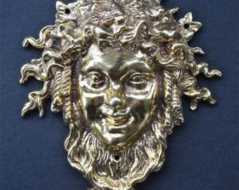 Superb solid brass Bacchus Roman god of wine Dionysus Greek god mount