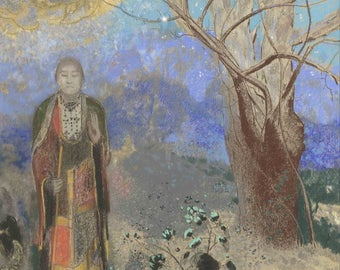 Odilon Redon: Buddha. Fine Art Print/Poster. (004158)