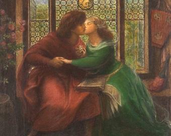 Dante Gabriel Rossetti: Paolo and Francesca da Rimini. Fine Art Print/Poster. (004159)