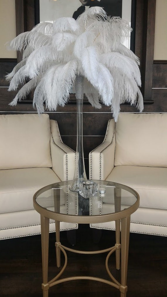 Ostrich feather centerpiece kits with eiffel tower