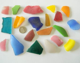 Beach found sea glass pieces for arts and crafts