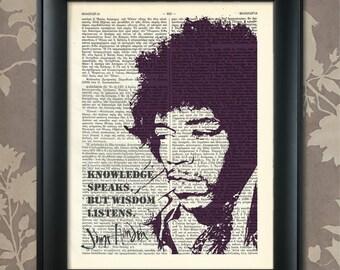 Jimi Hendrix Quote, Jimi Hendrix print, Jimi Hendrix Art, Jimi Hendrix Poster, Jimi Hendrix Gift, Jimi Hendrix Decor, Rock Legend, Guitar