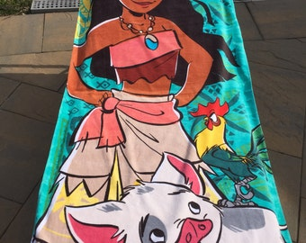 Moana Beach Towel - Personalized Beach Towel