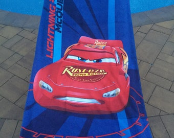 CARS Lightning McQueen Beach Towel Personalized Beach Towel