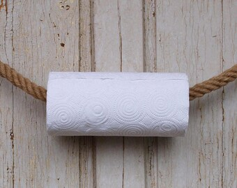 1 HEMP ROPE TOWEL holder rack handmade  for kitchen, bathroom, boat or outdoors undercover