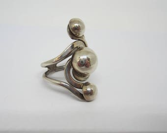 Sterling Silver Ring, Silver Ball Ring, Sterling Silver Jewellery, Vintage Rings