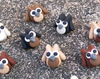 Mini Owls - Natural Colours