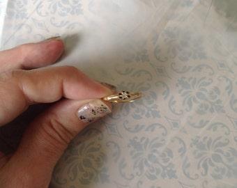 14k Yellow Gold Diamond Ring -- Size 7.75