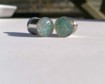 Snowy Glitter Plugs, 8mm