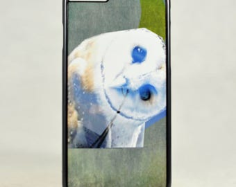 Curious Owl Phone Case - iPhone 7 case - iPhone 6/6s case -  Owl Samsung Phone Case - Mixed Media Owl Phone Case, Unique Gift
