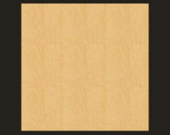 Unfinished Wood SQUARE Cutout - BS003