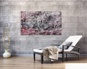 Original abstract artwork on canvas ready to hang 80x140cm #590
