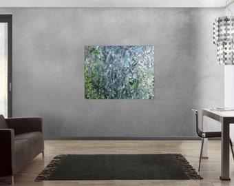 Modern abstract artwork in XXL by Alexander Zerr acrylic on canvas 100x120cm #834