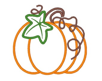Pumpkin Embroidery Design Pumpkin Embroidery Designs Applique Fall Pattern 4X4 5X7 6X10 8X8 Instant Download