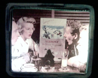 White Christmas Movie Passenger Train Car Christmas Village Accessory