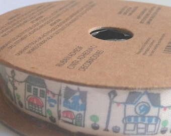 Ribbon 2 metre reel 16mm wide adhesive backed ribbon street scene