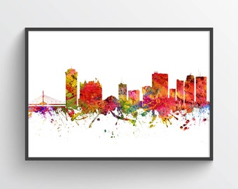 Winnipeg Poster, Winnipeg Skyline, Winnipeg Cityscape, Winnipeg Print, Winnipeg Art, Winnipeg Decor, Home Decor, Gift Idea, CAMBWI08P