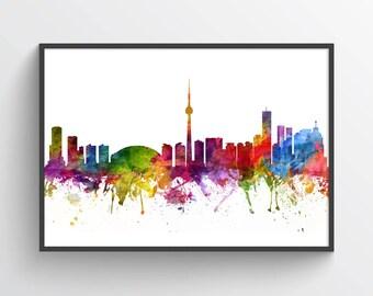 Toronto Poster, Toronto Skyline, Toronto Cityscape, Toronto Print, Toronto Art, Toronto Decor, Home Decor, Gift Idea, CAONTO06P