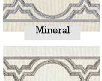 Embroidered Design Ribbon Drapery Trim Add-on, for any set of drapes