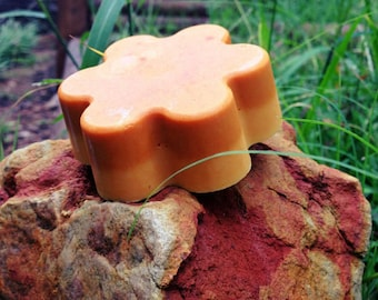 Turmeric Soap | Goat Milk Soap | Tangerine soap | Natural soap | Homemade | Turmeric beauty | Turmeric skin care | Happy Dragon Skincare